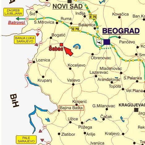mapa srbije krupanj FMP BE BE Gde se nalazimo mapa srbije krupanj