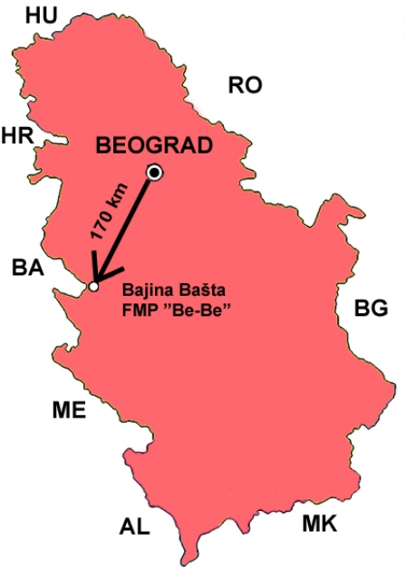 bajina basta mapa FMP BE BE Where we are bajina basta mapa